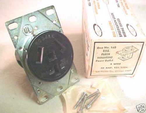 new bell electric flush mount 30a power outlet 160 ebay