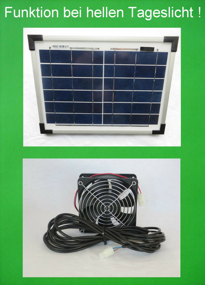 10 watt solarl fter solar ventilator klimager t bel fter. Black Bedroom Furniture Sets. Home Design Ideas