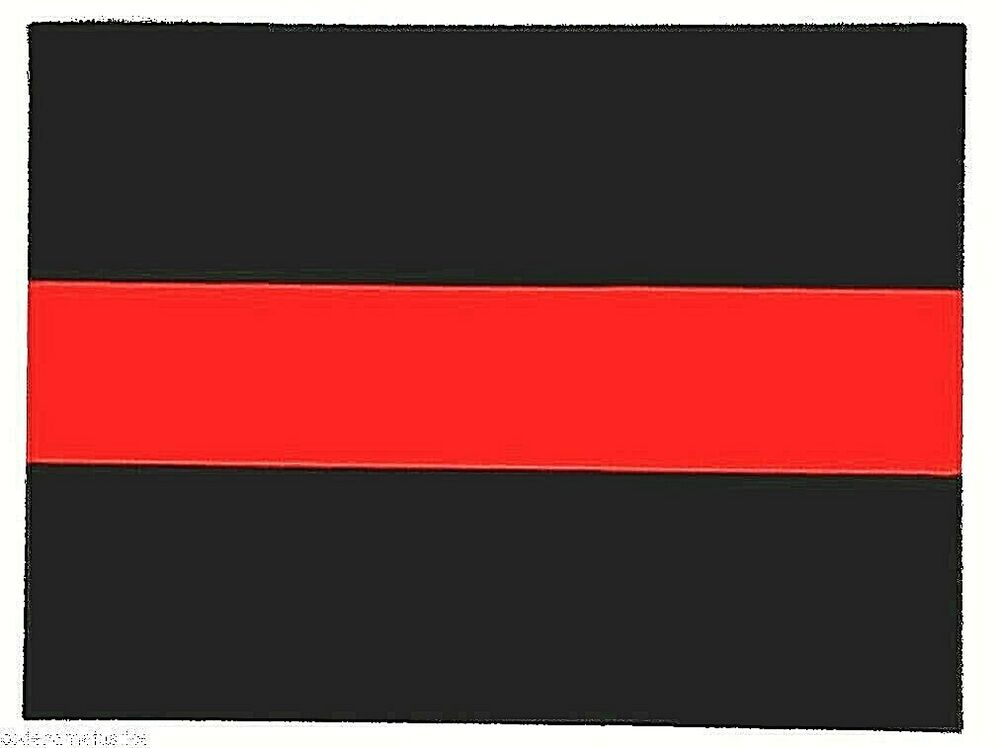 Thin Red Line Highly Reflective Firefighter S Vinyl Red