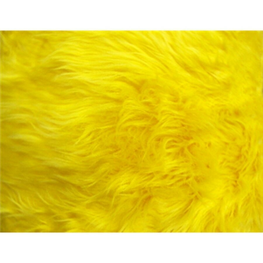 Yellow Shaggy Long Pile Faux Fur Fabric 29 99 Yard Free