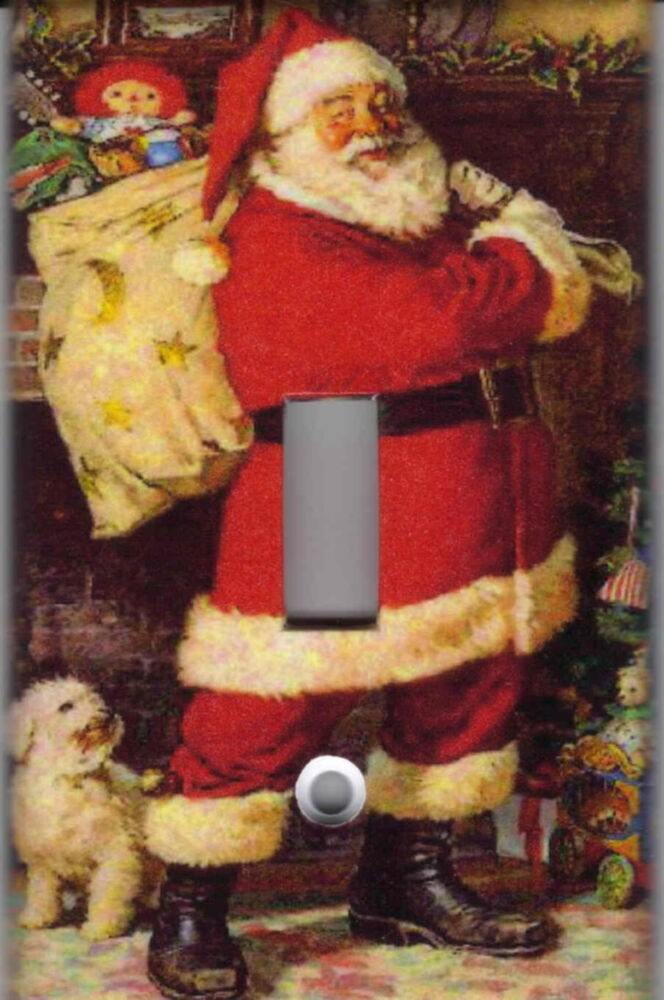 Santa Claus Christmas Holiday Home Wall Decor Light Switch