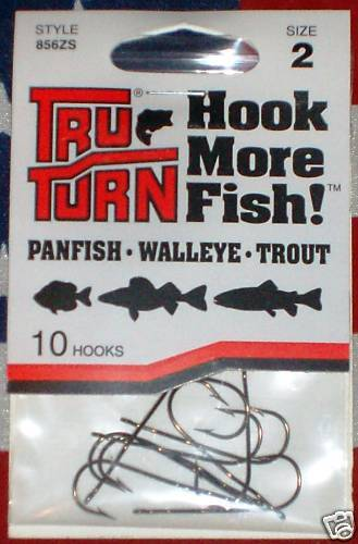 Tru turn size 2 panfish fishing hooks qty 10 trout ebay for Fishing hook sizes for trout