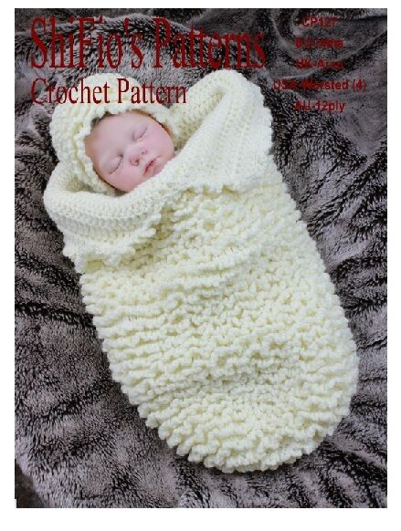 CROCHET PATTERN for BABY COCOON PAPOOSE & HAT #127 By ...