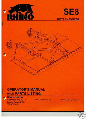 Rotary Mower Shop Manuals