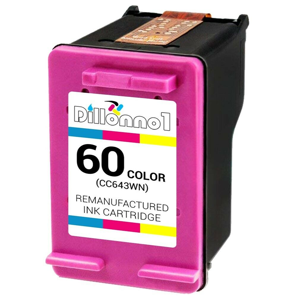 for hp 60 color ink cartridge for hp60 cc643wn cc643 for hp printer ebay. Black Bedroom Furniture Sets. Home Design Ideas