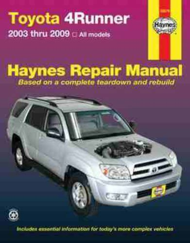 2003 2009 Toyota 4runner Repair Manual 1563927586 Ebay