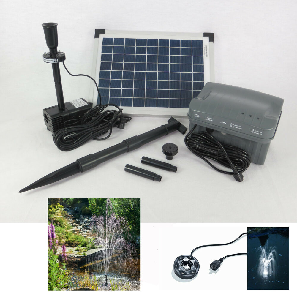10w solarpumpe solar gartenpumpe teichpumpe akku pumpe gartenteichpumpe batterie ebay. Black Bedroom Furniture Sets. Home Design Ideas
