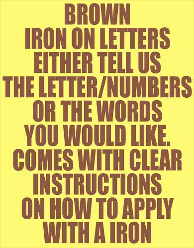 10 4quot brown iron on letters numbers transfer printing ebay With brown iron on letters