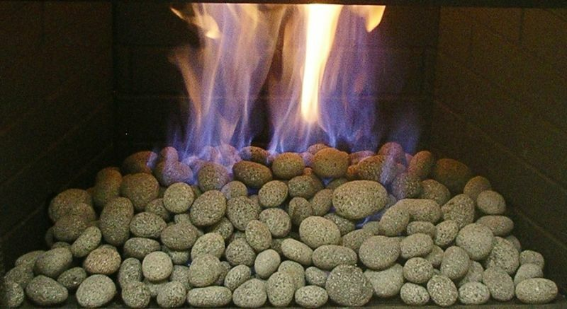 LAVA PEBBLES Fire Pit Fire Gas Logs Fireplace fireglass