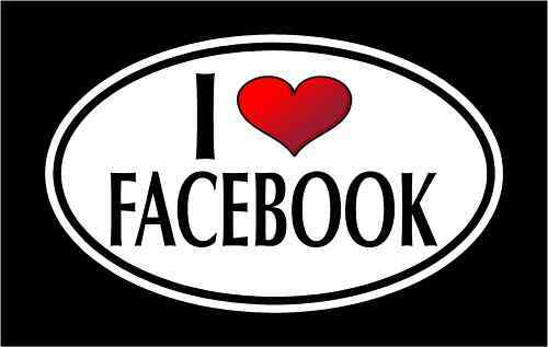 "5.75"" I LOVE FACEBOOK vinyl decal sticker.. FRIENDS - LIKE ..."