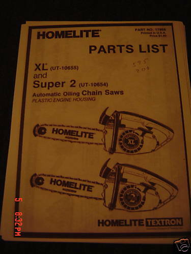 Parts For homelite super xl chainsaw manual