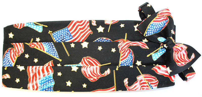 American Flag Cummerbund and Bow Tie set - eCRATER