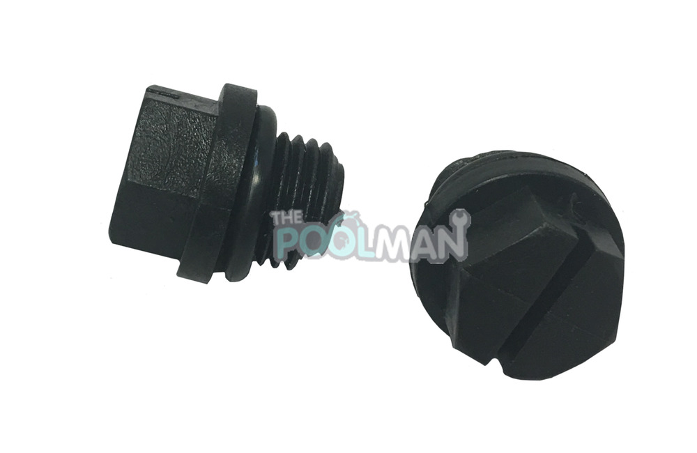 2 Pack Of Hayward Spx1700fg Swimming Pool Pump Drain Plugs