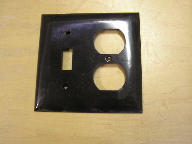 Wall Plug Light Switch : Bakelite Electrical Wall Cover Plug Light Switch eBay