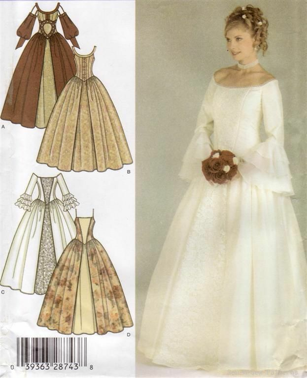 Renaissance Bridal Gown Sewing Pattern Princess Dress: Medieval/Victorian/Colonial Dress PATTERN Wedding OOP!