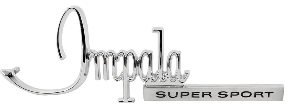 1968 chevy impala ss rear trunk panel emblem impala super