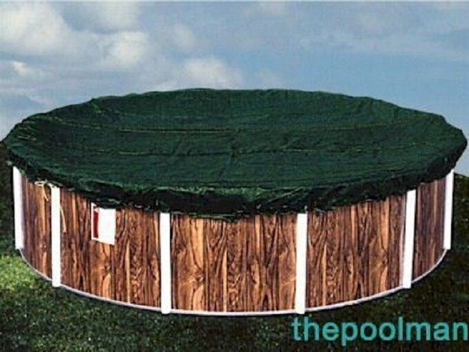 New estate model winter swimming pool cover for oval shaped above ground pools ebay for Pool covers above ground swimming pools