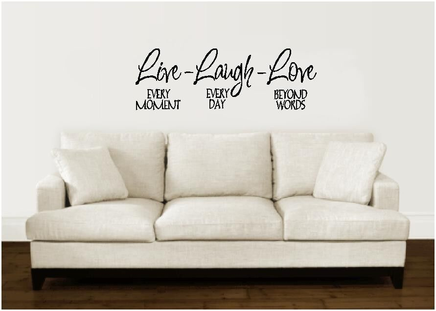 live laugh love wall decal sticker lettering vinyl word ebay decalthewalls live laugh love wall decal amp reviews wayfair