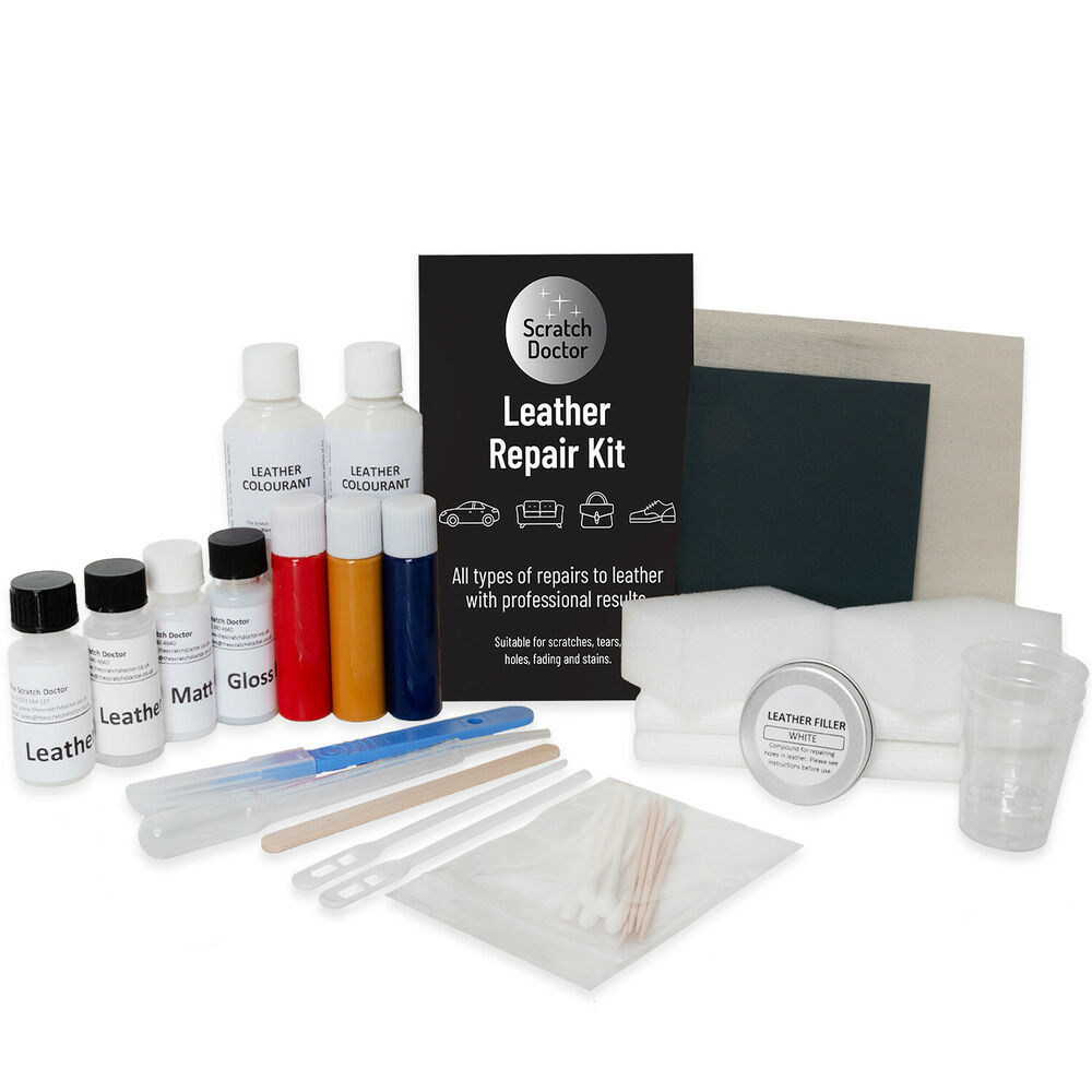 Black Leather Repair Kit Sofa Chair Burns Scuffs Holes Ebay