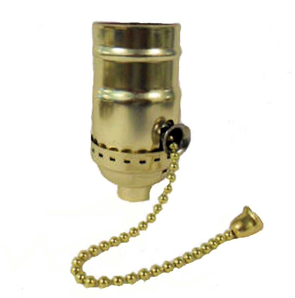 Lamp Parts Off On Brass Plated Pull Chain Sockets Tr 9