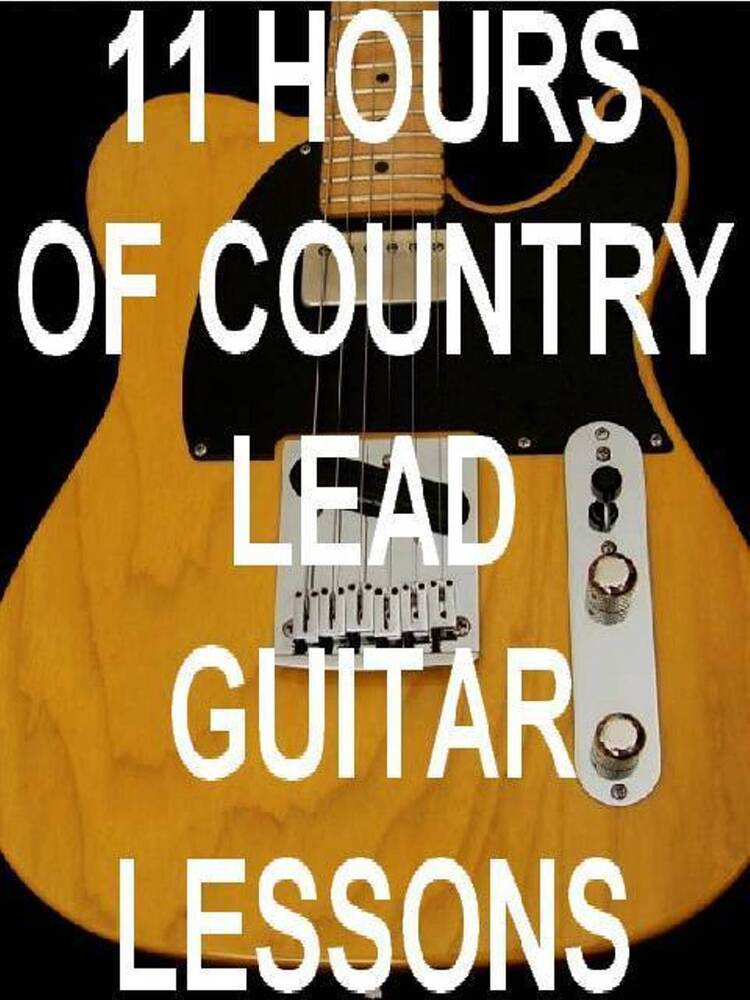 11 hrs country lead guitar lessons on 1 dvd rom video computer disk awesome ebay. Black Bedroom Furniture Sets. Home Design Ideas