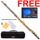 Cecilio Black/Gold Open-Hole C FLUTE FE-380BNG w/B-Foot