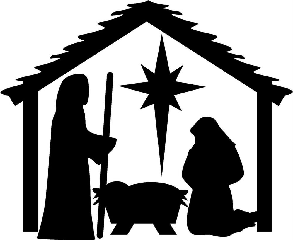 Nativity Christmas Wall Stickers Vinyl Decal Decor Art eBay