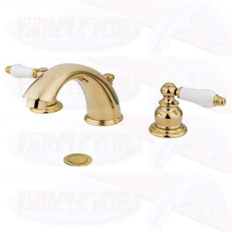 Polished Brass Bathroom Sink Faucet New Kb972b Ebay