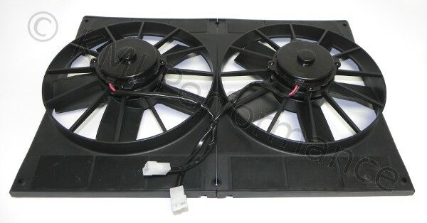 Dual 11 Quot Electric Radiator Twin Cooling Fans With Shroud