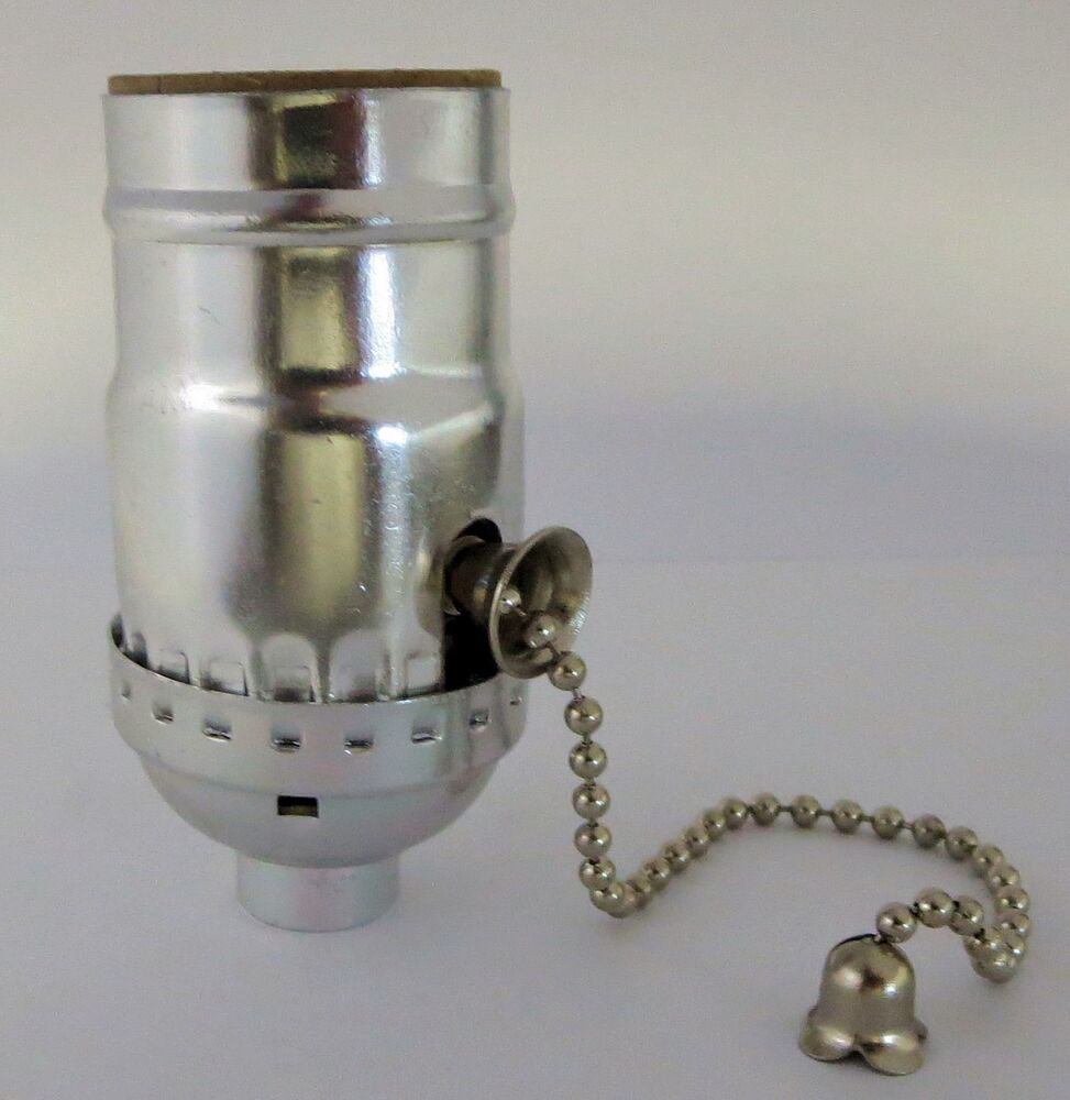 lamp parts off on nickel pull chain lamp socket tr 12 ebay. Black Bedroom Furniture Sets. Home Design Ideas