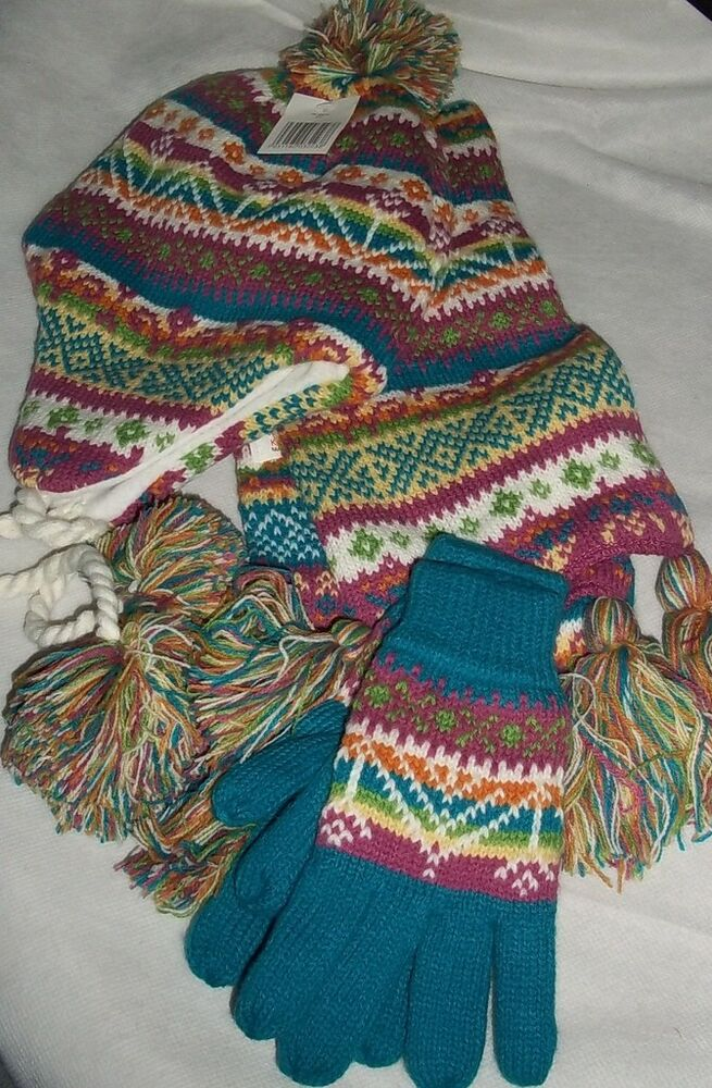 knitted hat scarf gloves set beautiful quality ebay