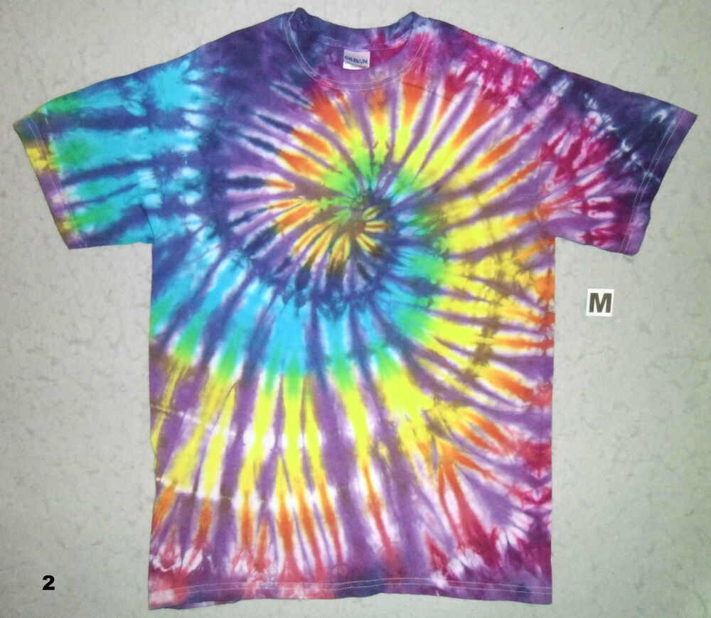 purple rainbow spiral tie dye t shirt ebay. Black Bedroom Furniture Sets. Home Design Ideas