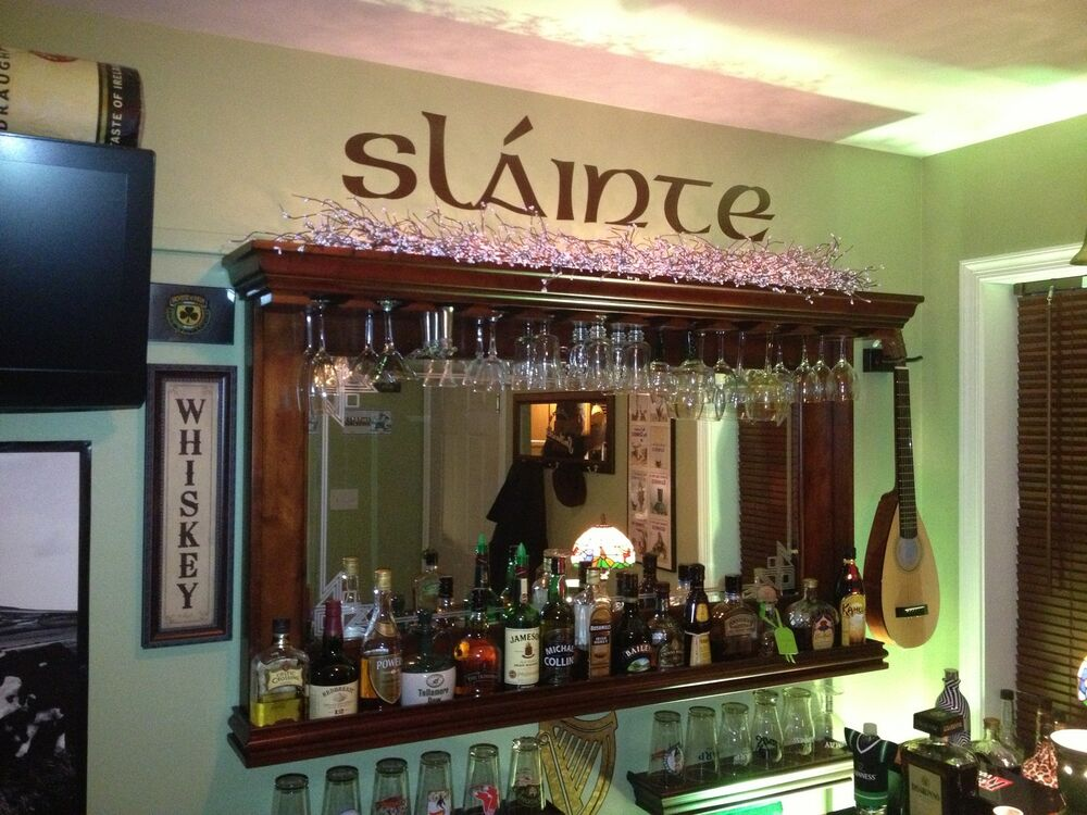 slainte custom bar decor irish celtic cheers decal ebay. Black Bedroom Furniture Sets. Home Design Ideas