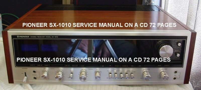 Pioneer stereo receiver sx-1010 service manual on a cd same day.