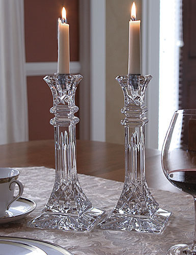 waterford giftware lismore 10quot candlestick pr new ebay With kitchen cabinets lowes with waterford candle holder