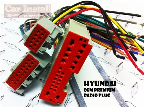 premium wire harness factory oem radio plug for hyundai. Black Bedroom Furniture Sets. Home Design Ideas