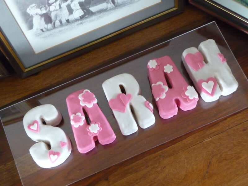 Alphabet Letters Cake Decorating