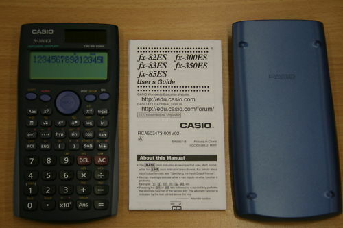 Casio Scientific Calculator Fx Blue Cover