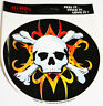 BUMPER STICKER-FLAMING SKULL: NEW. Great Gift idea !