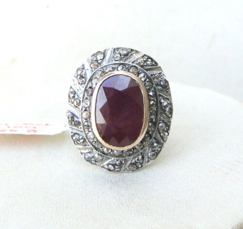 ruby gold silver ring india ebay