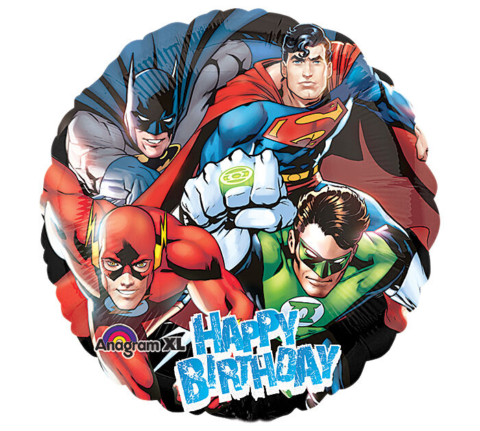 Justice league quot balloons birthday batman superman ebay