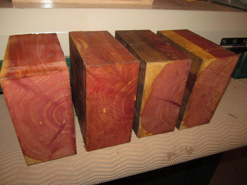Red Cedar Wood ~ Four eastern red cedar bowl blanks lumber lathe wood
