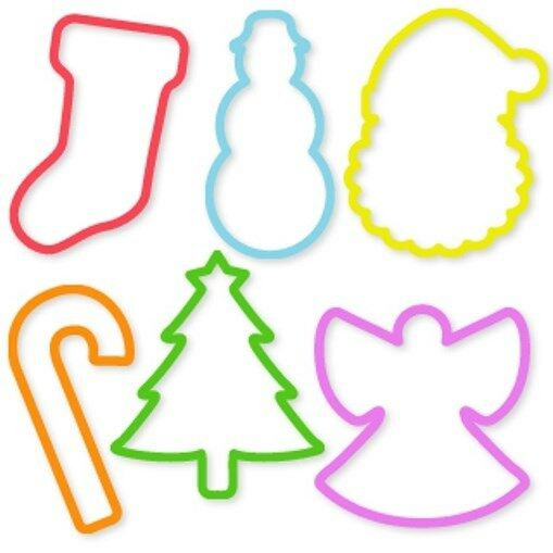 Silly Bandz Holiday Shapes 24 Pack New Shaped Rubber Bands