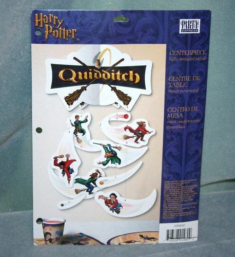 Harry potter quidditch table decoration centerpiece paper for Table quidditch
