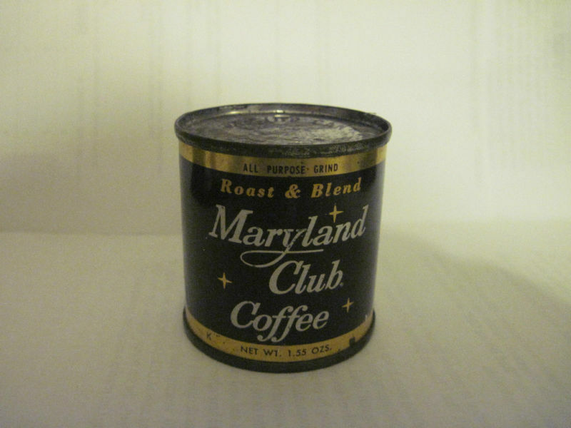 Vintage maryland club coffee can minature coffee can ebay - What are coffee cans made of ...