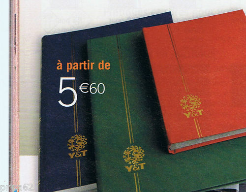1 CLASSEUR POUR TIMBRES 64 PAGES BLANCHES GRAND FORMAT NEUF VERT