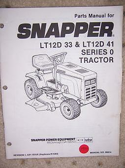 snapper mower schematics 1989 snapper power lawn tractor series 0 parts manual f | ebay snapper lawn mower engine diagram