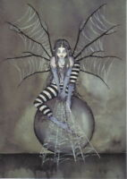 Amy Brown's Web Spinner Fairy Art Postcard 2001 MINT