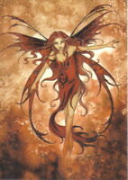 Amy Brown's Fire Element Fairy Art Postcard 2004 MINT