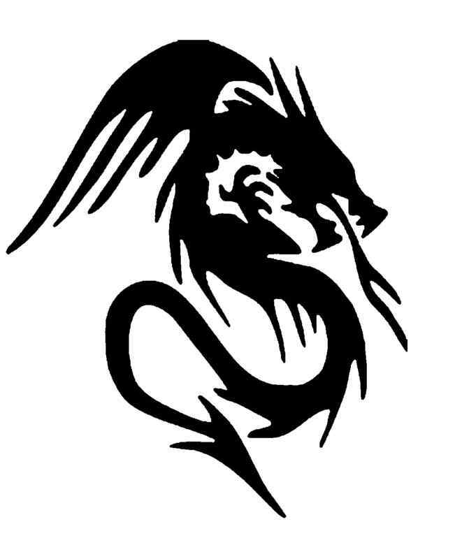 It's just an image of Fabulous Dragon Stencils Printable